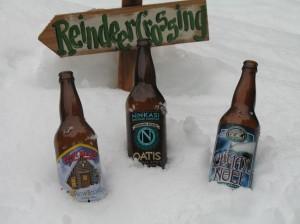 2008 podium - (L-R) Left Hand Snow Bound, Ninkasi Oatis, Eel River Climax Noel