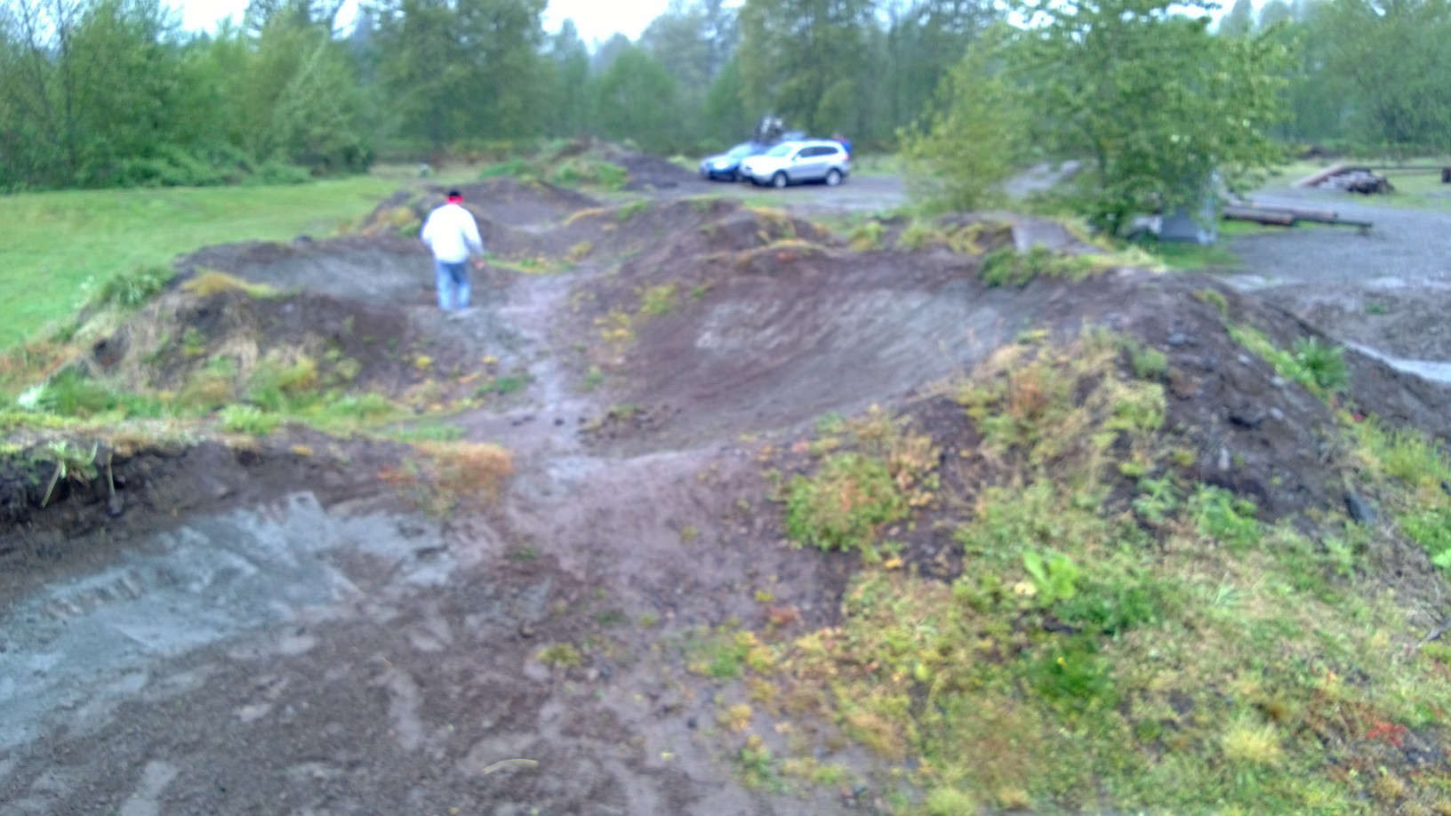 South side berms now completed